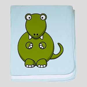 Cartoon T-Rex baby blanket