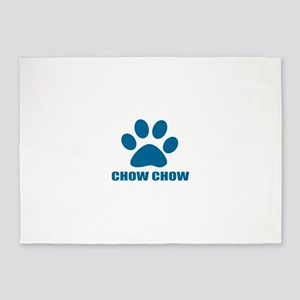Chow Chow Dog Designs 5'x7'Area Rug