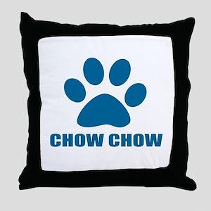 Chow Chow Dog Designs Throw Pillow