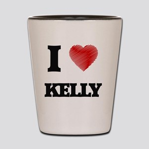 I Love Kelly Shot Glass