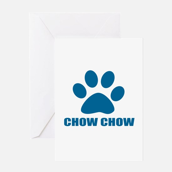 Chow Chow Dog Designs Greeting Card
