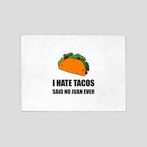 Hate Tacos Juan 2 5'x7'Area Rug