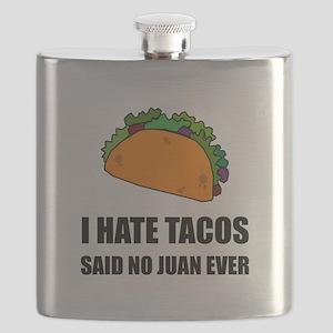 Hate Tacos Juan 2 Flask