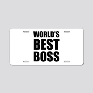 Worlds Best Boss 2 Aluminum License Plate