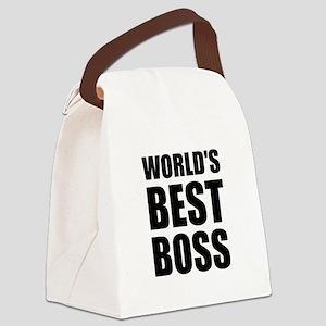 Worlds Best Boss 2 Canvas Lunch Bag