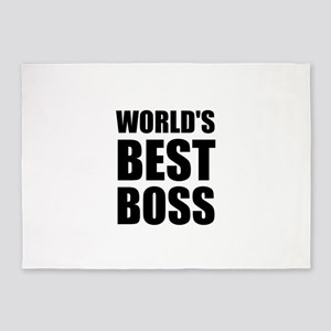 Worlds Best Boss 2 5'x7'Area Rug