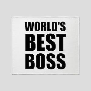 Worlds Best Boss 2 Throw Blanket