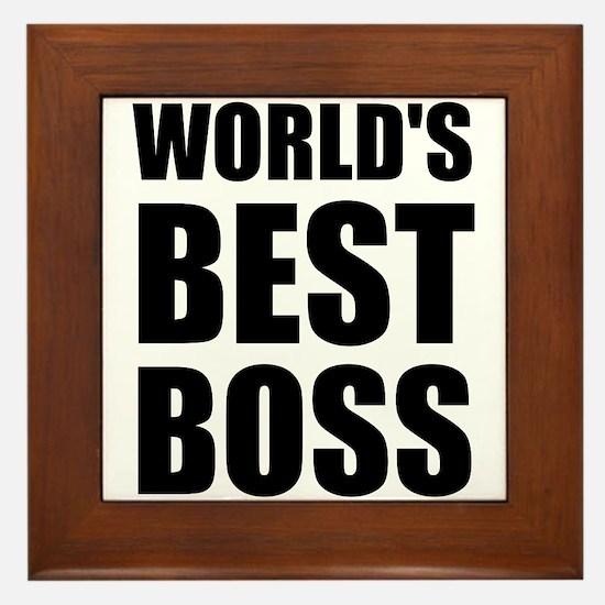Worlds Best Boss 2 Framed Tile