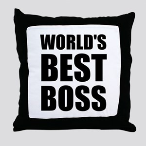Worlds Best Boss 2 Throw Pillow