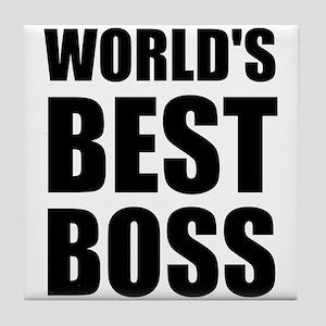 Worlds Best Boss 2 Tile Coaster