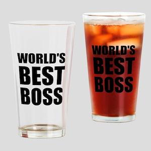 Worlds Best Boss 2 Drinking Glass