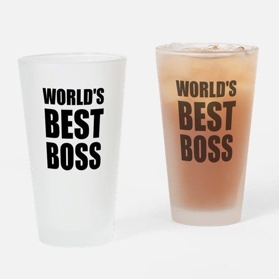 Worlds Best Boss 2 Drinking Glass