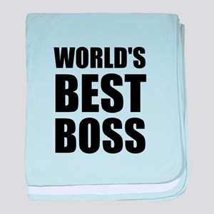 Worlds Best Boss 2 baby blanket