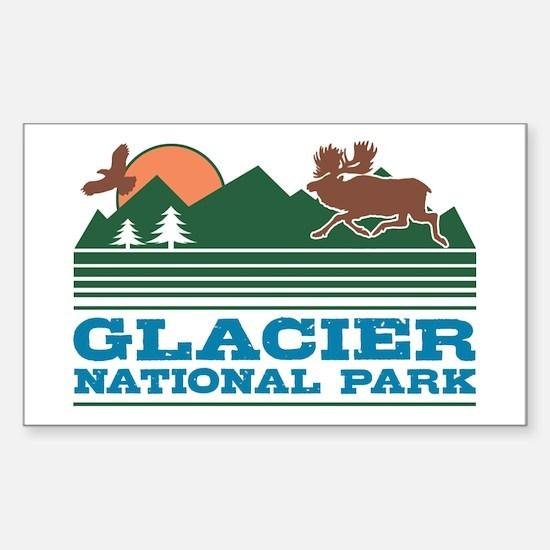Glacier National Park Sticker (Rectangle)