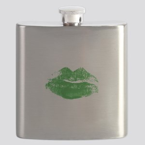 Green Lips St. Patrick's Day Flask