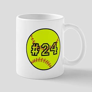 Softball with Custom Player Number Mug