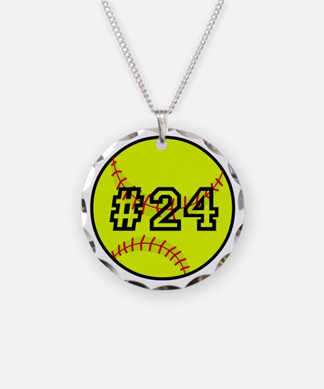 Softball with Custom Player Necklace
