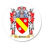 Pethers Round Car Magnet