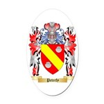 Peterfy Oval Car Magnet