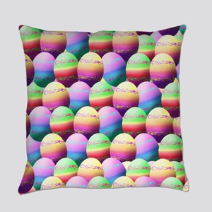 Colorful Easter Eggs Pattern Everyday Pillow
