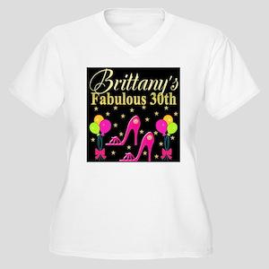 30TH PARTY Women's Plus Size V-Neck T-Shirt