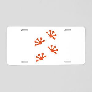 Gecko Tracks Aluminum License Plate