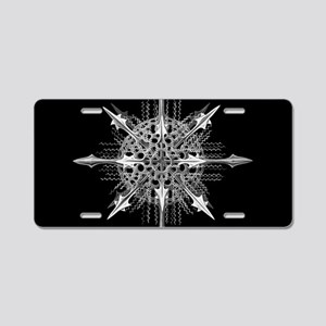 Symmetry, a Diatom by Ernst Aluminum License Plate