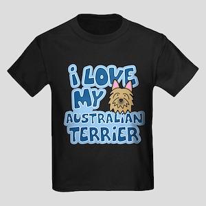 I Love my Australian Terrier Kids Dark T-Shirt