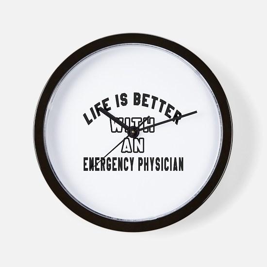 Emergency Physician Designs Wall Clock