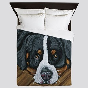 Bernese Mountain Dog Queen Duvet