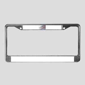 abstract background License Plate Frame