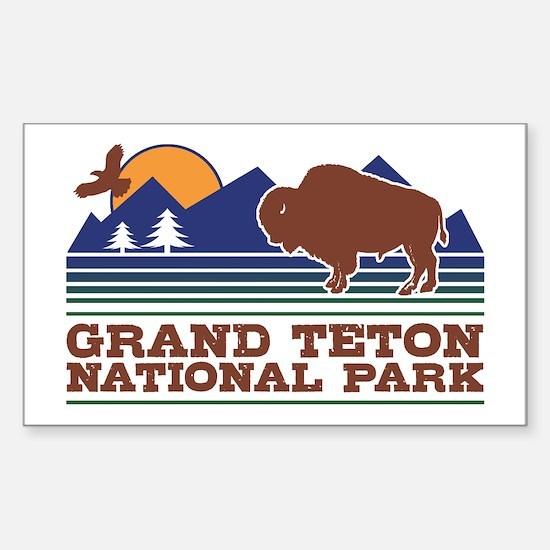 Grand Teton National Park Sticker (Rectangle)