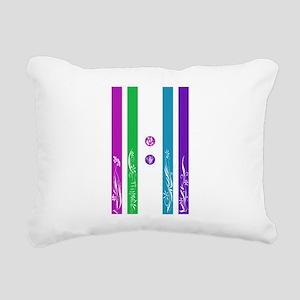 11:11 Colorful Floral Rectangular Canvas Pillow