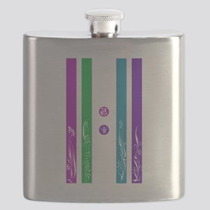 11:11 Colorful Floral Flask