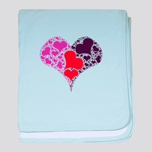 Heart made of hearts. baby blanket