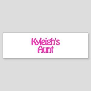Kyleigh's Aunt Bumper Sticker