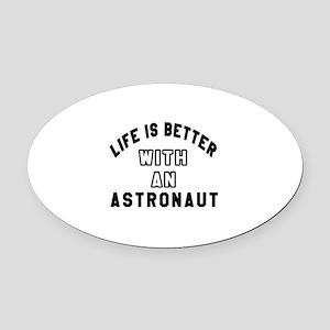 Astronaut Designs Oval Car Magnet