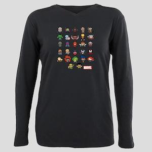 Marvel Kawaii Heroes Plus Size Long Sleeve Tee