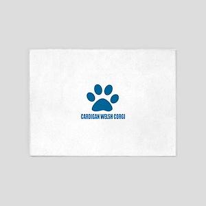 Cardigan Welsh Corgi Dog Designs 5'x7'Area Rug