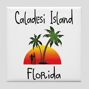 Caladesi Island Florida Tile Coaster