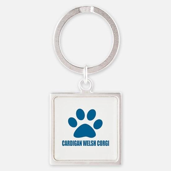 Cardigan Welsh Corgi Dog Designs Square Keychain