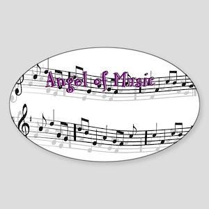 Angel of Music Oval Sticker