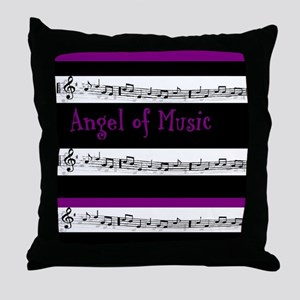 """Angel of Music"" Throw Pillow"