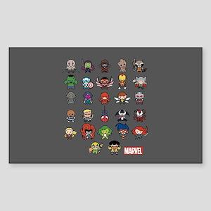 Marvel Kawaii Heroes Sticker (Rectangle)
