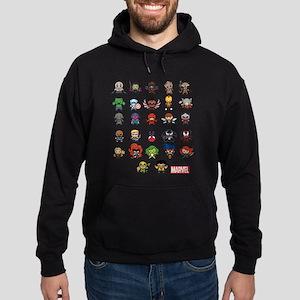 Marvel Kawaii Heroes Hoodie (dark)