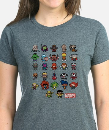 Marvel Kawaii Heroes Women's Dark T-Shirt