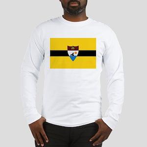 Big Flag Of Liberland Long Sleeve T-Shirt