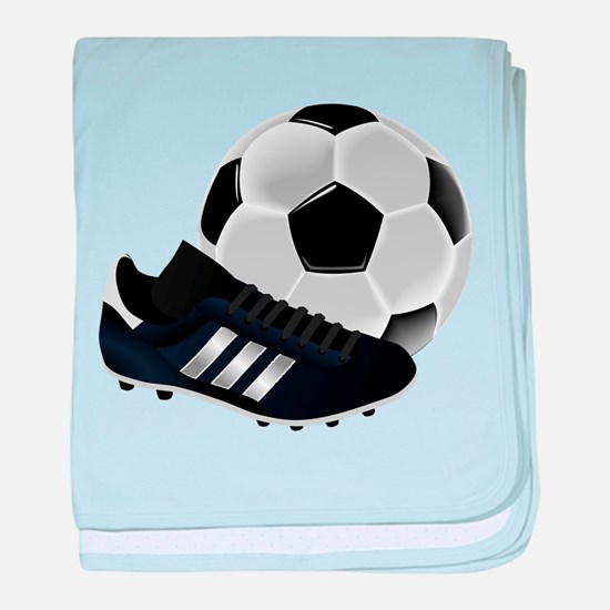 Soccer Ball And Shoes baby blanket
