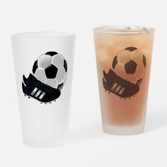 Soccer Ball And Shoes Drinking Glass