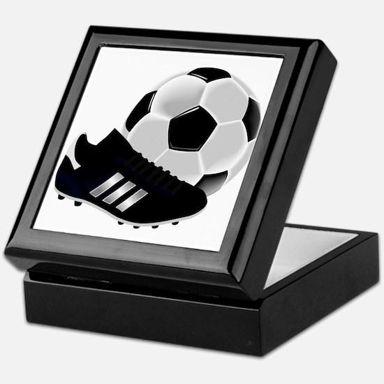 Soccer Ball And Shoes Keepsake Box